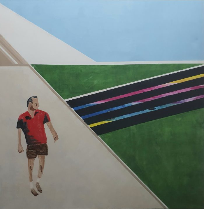 Wandern, 2020, 200x200cm, oil on canvas - Castaignet